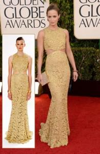 emily-blunt-michael-kors-golden-dress-2013-golden-globes